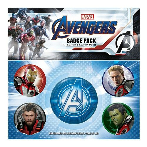 Marvel Avengers Endgame Quantum Realm Button Badge Pack